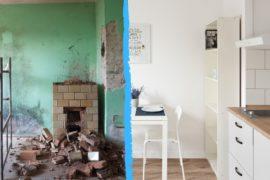 Mieszkanie z przetargu - Warszawa - kuchnia i pokój